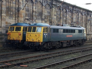 86101 and 87002 on icebreaking duty at Carlisle