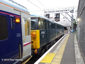 87002 at Euston about to leave for Edinburgh with the Highland Sleeper